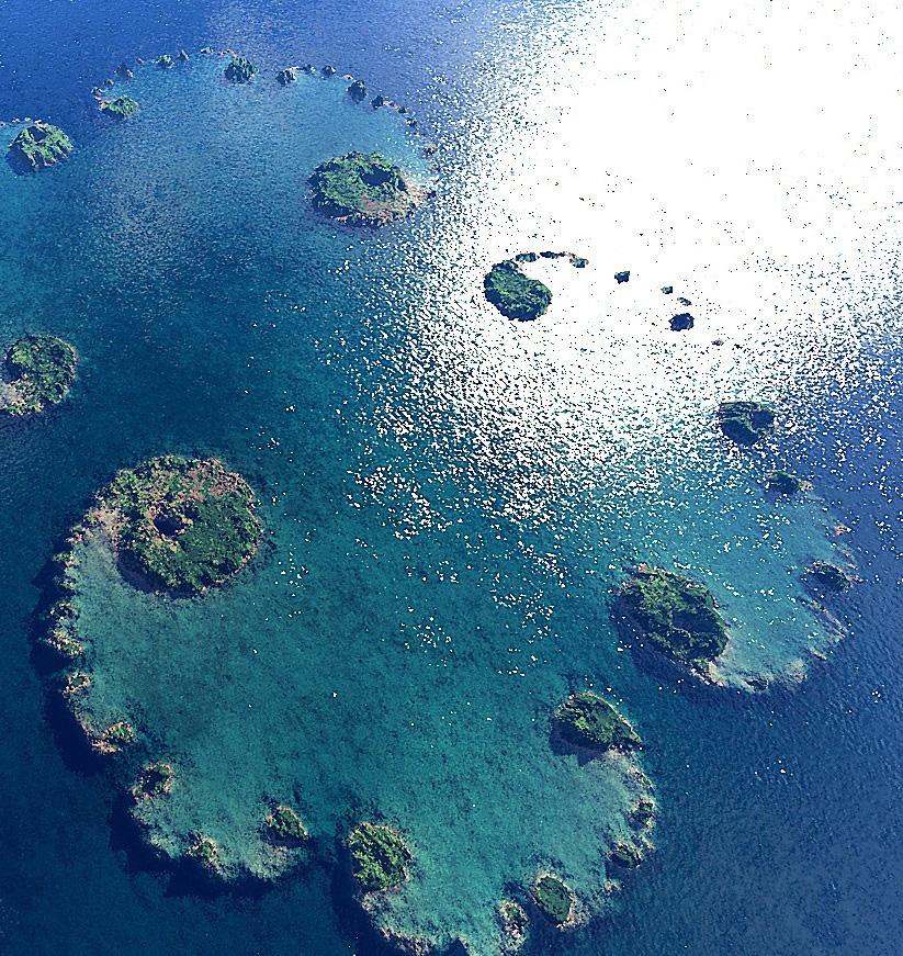 Un isola che sembra un frattale